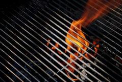 решетка пламен Стоковая Фотография