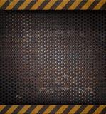 решетка предпосылки продырявила пефорированный металл Стоковое фото RF