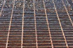 Решетка сброса затопленная с водой Стоковые Изображения RF