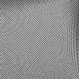 Решетка, сетка линий с динамическим эффектом искажения Геометрическое PA Стоковая Фотография