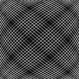 Решетка, сетка, пересекая выравнивает картину с выпуклым искажением L Стоковые Фото