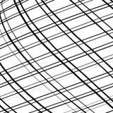 Решетка, сетка, пересекая выравнивает картину с выпуклым искажением L Стоковое Изображение