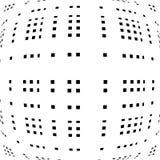 Решетка, сетка передернутых линий Геометрическая monochrome текстура Стоковые Фотографии RF