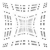 Решетка, сетка передернутых линий Геометрическая monochrome текстура Стоковые Изображения RF