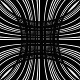 Решетка, сетка передернутых линий Геометрическая monochrome текстура Стоковое Фото