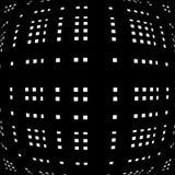 Решетка, сетка передернутых линий Геометрическая monochrome текстура Стоковая Фотография