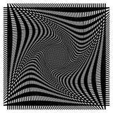 Решетка, сетка с деформацией, влиянием искривления - комплектом 2 слоев  Стоковые Изображения RF