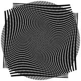 Решетка, сетка с деформацией, влиянием искривления - комплектом 2 слоев  Стоковые Фотографии RF