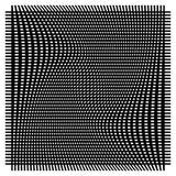 Решетка, сетка с деформацией, влиянием искривления - комплектом 2 слоев  Стоковое Изображение