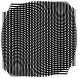Решетка, сетка с деформацией, влиянием искривления - комплектом 2 слоев  Стоковые Изображения