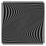 Решетка, сетка с деформацией, влиянием искривления - комплектом 2 слоев  Стоковая Фотография RF