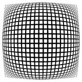Решетка, сетка, решетка с искажением, влиянием искривления Абстрактное eleme иллюстрация вектора