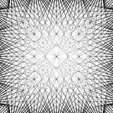 Решетка, сетка с соединенными объектами резюмирует геометрическое бесплатная иллюстрация