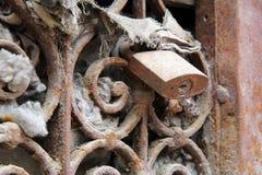 Решетка с замком Стоковые Изображения
