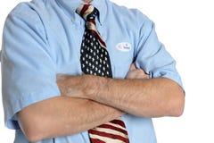 Решительно избиратель патриота Стоковые Фото
