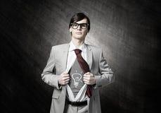 Решительно супер бизнесмен стоковая фотография