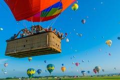 Реюньон баллона горячего воздуха Mondial в Лорене франция Стоковые Фотографии RF