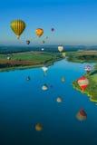 Реюньон баллона горячего воздуха Mondial в Лорене Франции Стоковые Фото