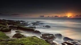 Релаксация захода солнца Стоковые Изображения RF