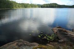 Релаксация на озере Стоковое Изображение RF