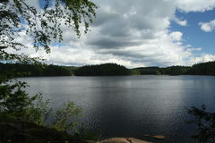 Релаксация на озере Стоковое фото RF