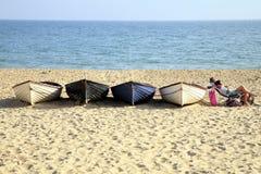 Релаксация пляжа Стоковое Фото
