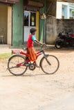 Редакционное иллюстративное изображение Транспорт цикла в Индии Стоковые Фотографии RF