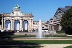 Редакционный парк юбилея триумфального свода Брюсселя Бельгии Стоковое фото RF