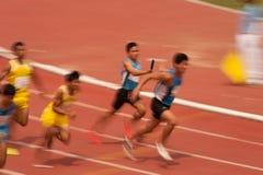 Реле в чемпионате 2013 Таиланда открытом атлетическом. Стоковые Фотографии RF