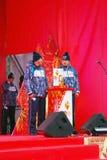 Реле олимпийского пламени в Москве Стоковое фото RF
