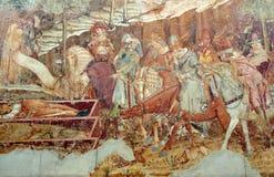 Религиозная настенная живопись стоковое изображение rf