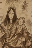 Религиозная настенная роспись стоковые изображения