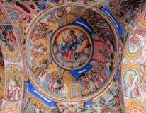 Религиозная христианская картина значка на крыше церков Стоковая Фотография RF
