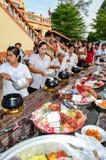 Религиозная церемония в Таиланде Стоковая Фотография
