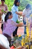 Религиозная церемония в Таиланде Стоковое Изображение