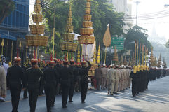 Религиозное шествие в Таиланде Стоковое Изображение