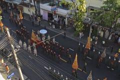 Религиозное шествие в Таиланде стоковые изображения