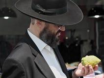 Религиозный еврей с бородой Стоковая Фотография RF