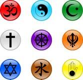 Религиозный комплект значка Стоковое Изображение RF
