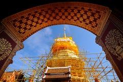 Реликвии Buddhas, висок в Chiangmai стоковая фотография
