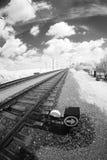 Рельсовые пути и пункты Стоковое Фото