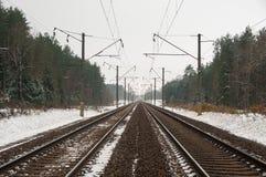 Рельсы поезда Стоковое Изображение RF