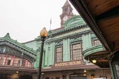Рельс и паромный терминал Hoboken стоковое изображение rf