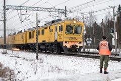Рельс-меля поезд Стоковые Фото
