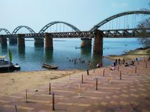 Рельс Rajamundry cum мост-Ii дороги стоковое изображение rf