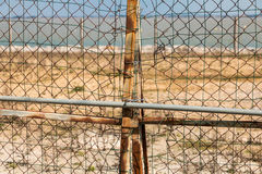 ржавая граница барьера Европы Стоковое Изображение