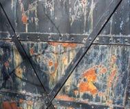 Ржавая дверь утюга Стоковые Изображения
