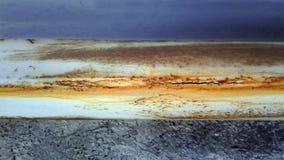 Ржавая железная труба с отказом Стоковая Фотография