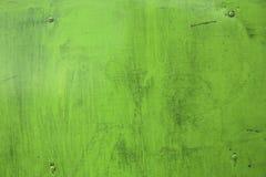 Ржавая зеленая текстура металла предпосылка промышленная Зеленая ржавая инфракрасн Стоковая Фотография RF