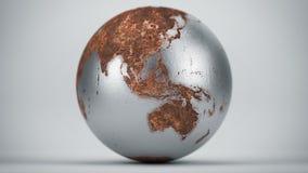 Ржавая земля Океания Азия Стоковое Изображение